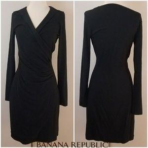 Banana Republic Dresses - Banana Republic   Black Wrap Dress [Dresses]